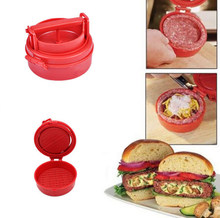 Nadziewane Burger prasa do hamburgerów mięso Cutlet Mold instrukcja Burger Patties Maker Food Grade Plastic Shaper akcesoria kuchenne(China)