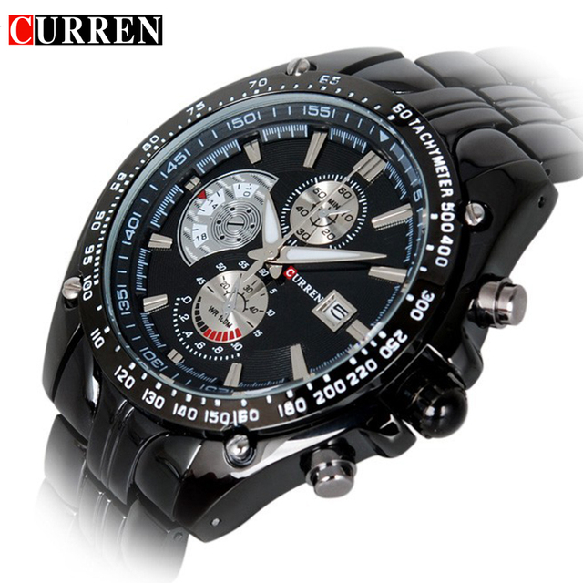 New Curren 8083 Watches Men Luxury Brand Military Men Watch Full Steel Wristwatches Fashion Waterproof Relogio Masculino Date