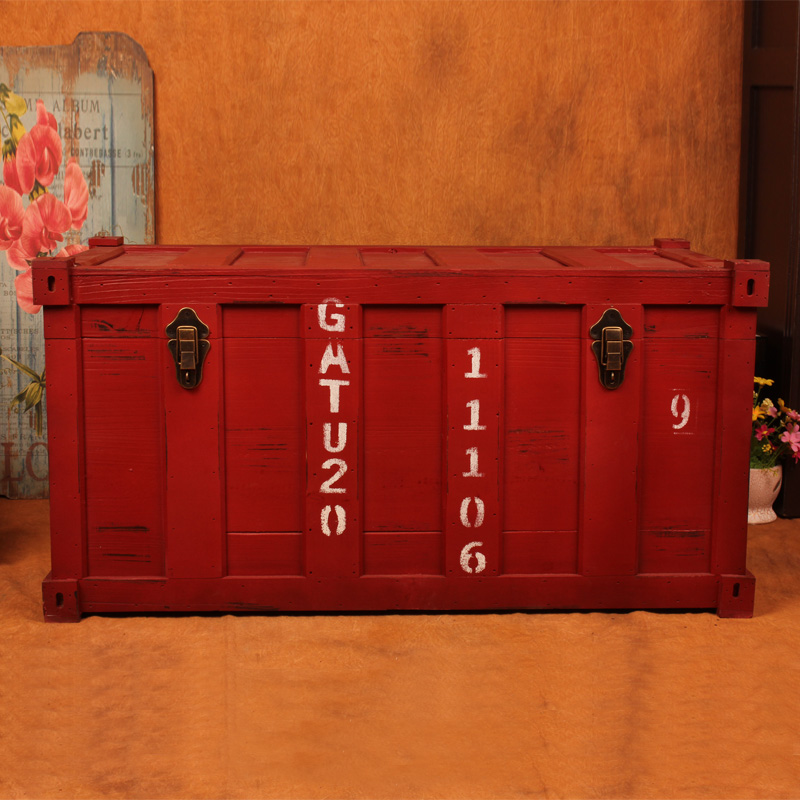 Creative Retro Wooden Suit Box Clothes Storage Box Luggage Case Decorations Vintage Furnishing Photography Props Window Display