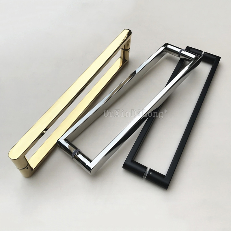 1PCS Gold/Polish Chrome/Dumb Black Stainless Steel Frameless Shower Glass Door Handles Pull / Push Handles C-C: 400mm JF12521PCS Gold/Polish Chrome/Dumb Black Stainless Steel Frameless Shower Glass Door Handles Pull / Push Handles C-C: 400mm JF1252