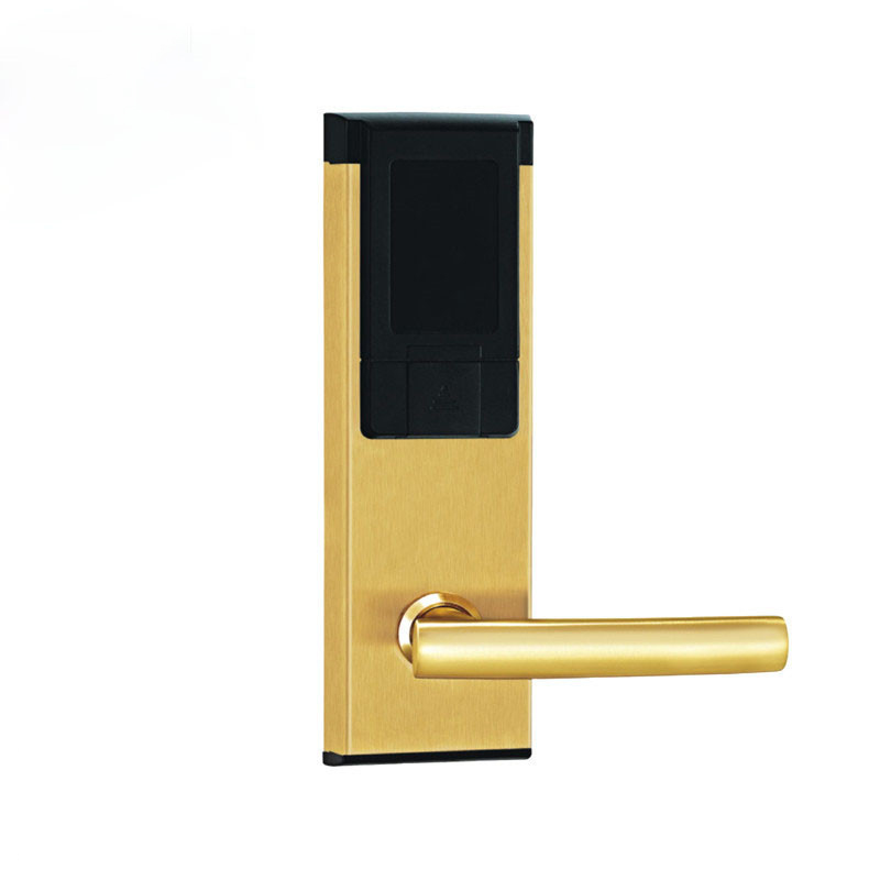 Electric Lock Electronic RFID Card Door Lock with Key For Home Hotel Apartment Office Latch with Deadbolt lkA310SG hotel lock system rfid t5577 hotel lock gold silver zinc alloy forging material sn ca 8037
