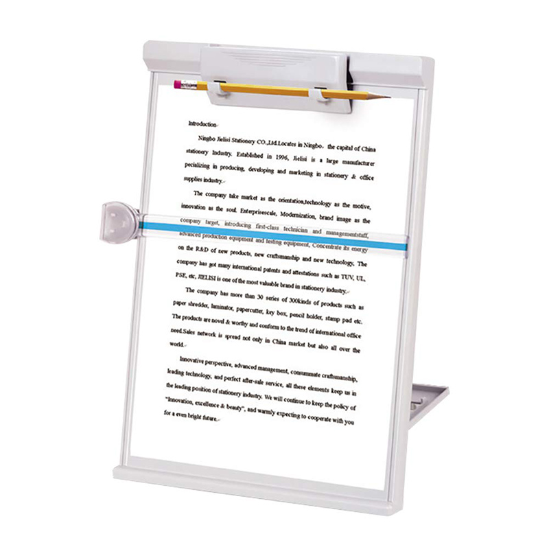 Adjustable Computer Document Holder Stand Gray Three-dimensional document holder Reading frame Profession Office Supplies