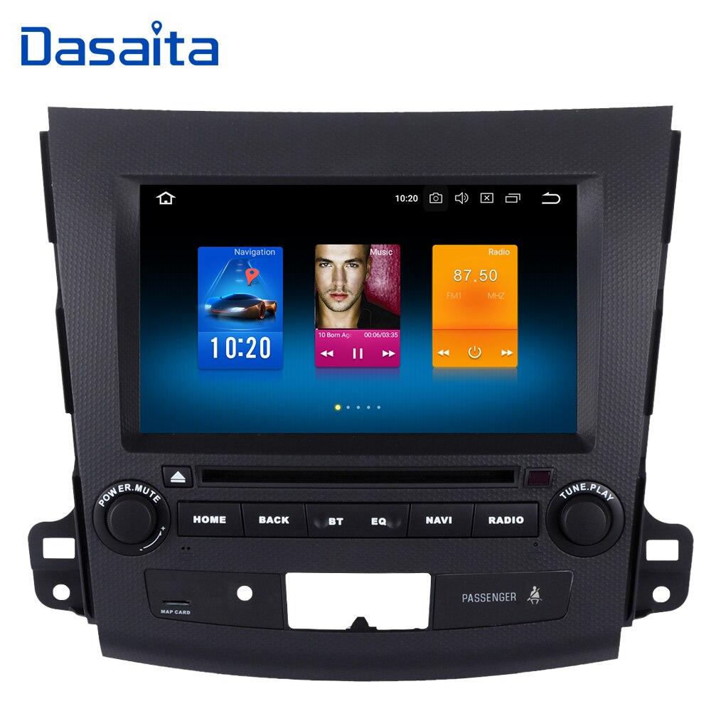 Dasaita 8 Car Radio 2Din Android 9 0 GPS for Mitsubishi Outlander 2007 2008 2009 2010