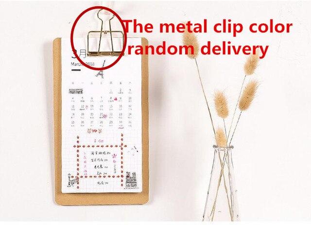 new 2018 menu format calendar organizer schedule calendar schedule memo diy hand drawn notepad calendar planner