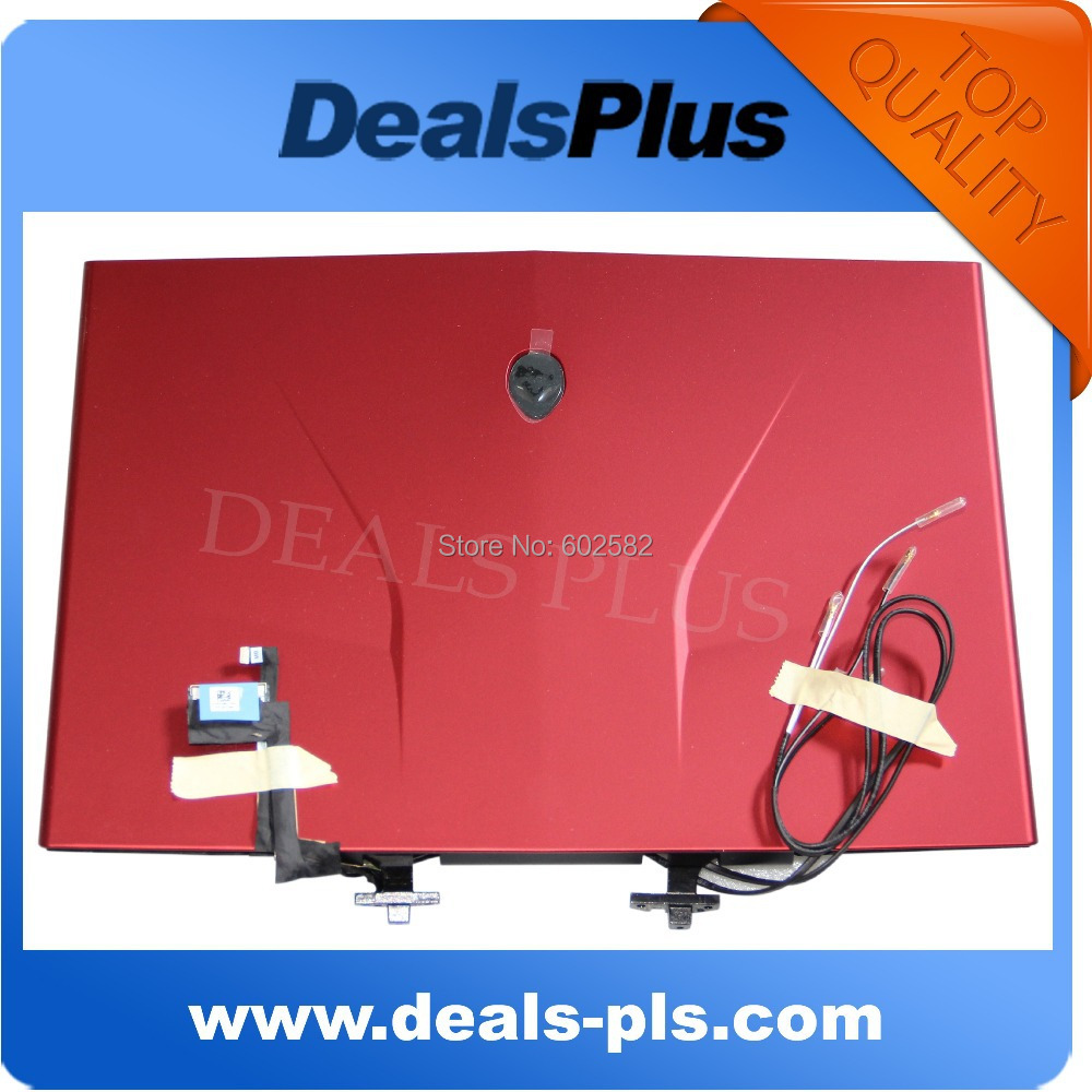 FOR Dell Alienware M14x R2 LCD Back Cover w/ Hinges/Webcam/Led/Cables C44HY - RED