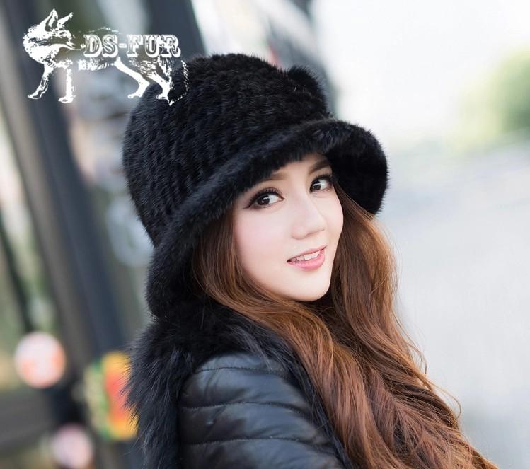 Weave real mink fur hat08