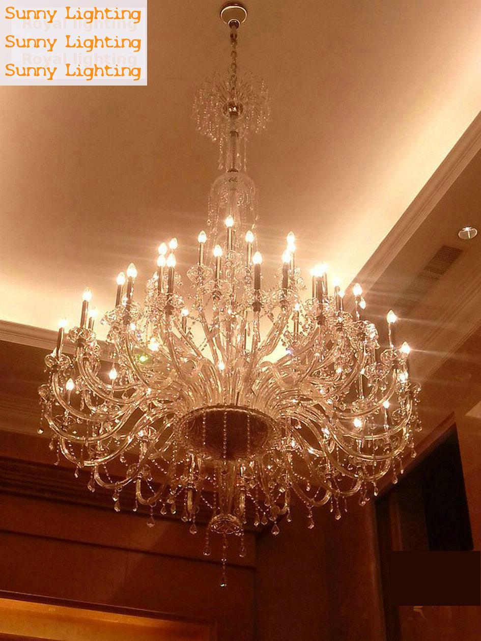 55-72 svjetla moderni LED svijećnjaci kristalne svjetiljke veliki - Unutarnja rasvjeta - Foto 3