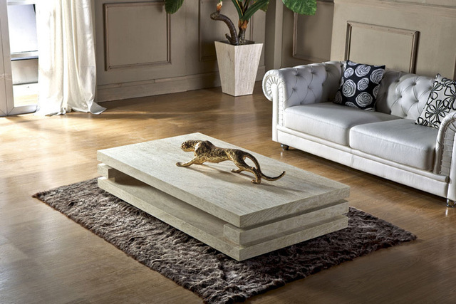 High End Living Room Furniture Iran Travertine Stone Coffee Table