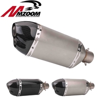 Motorcycle accessories modification 51mm muffler exhaust short double mouth big hexagon