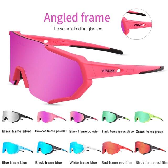 X-TIGER feminino polarizado ciclismo óculos de sol mtb bicicleta ciclismo óculos ciclismo ciclismo mountain racing 3
