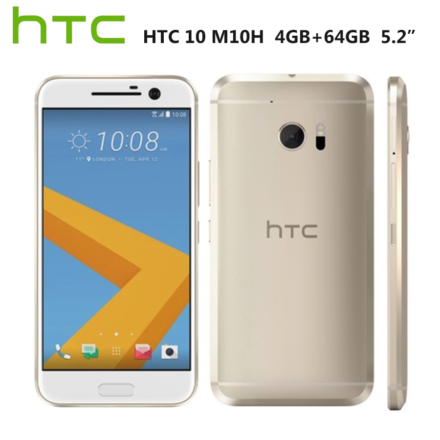 "Original HTC 10 M10H 4G Mobile Phone 5.2""1440x2560p 4GB RAM 64GB ROM Snapdragona820 QuadCore 12MP Android Smartphone Google Play"