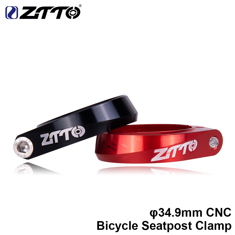 ZTTO MTB Road Bike Seatpost 34.9mm CNC Seat Clamp Ultralight Seat Post Tube Clip