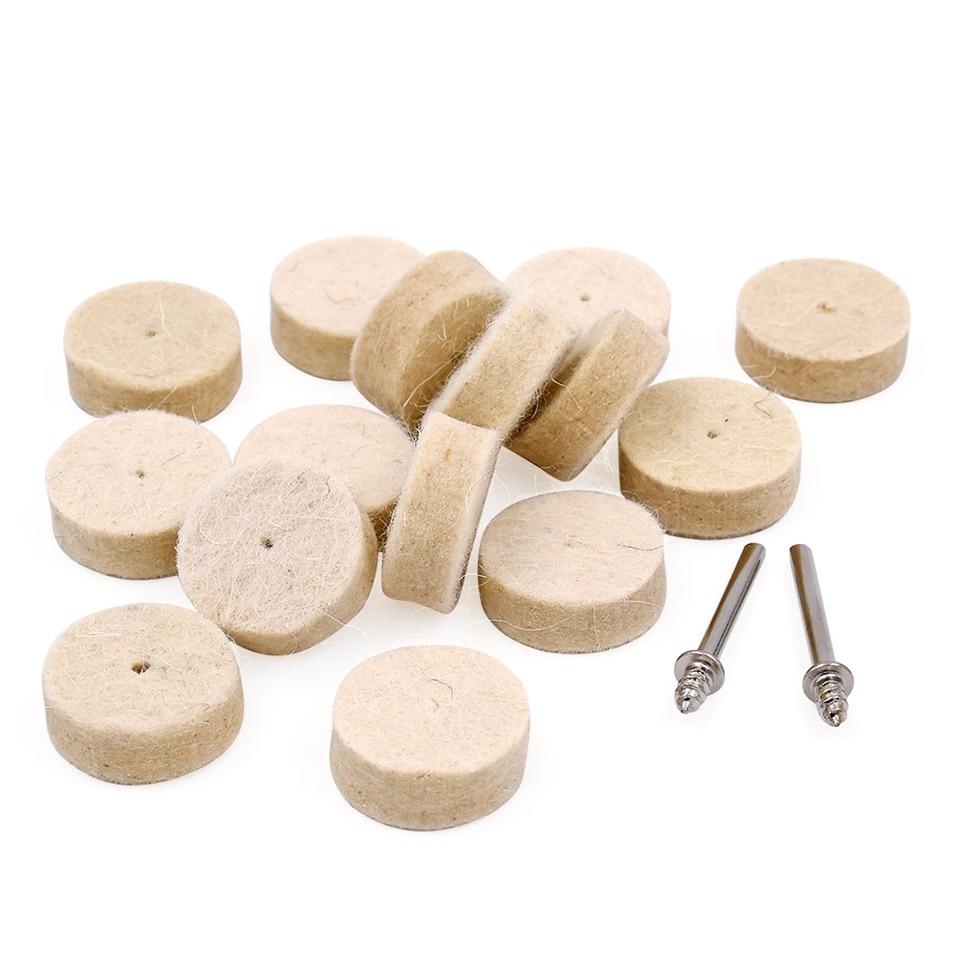 100pcs utensili abrasivi rotanti feltro lana lucidatura mola gioielli - Utensili abrasivi - Fotografia 3