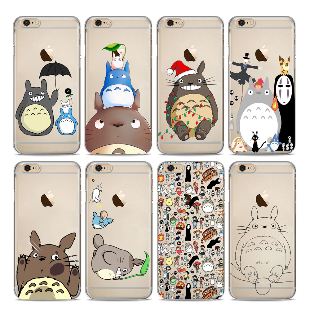 Case For iphone 5 5S SE 6S 7 8 Cute Totoro Soft Silicone TPU Phone Cover For iphone 7Plus 8Plus X XS Max XR