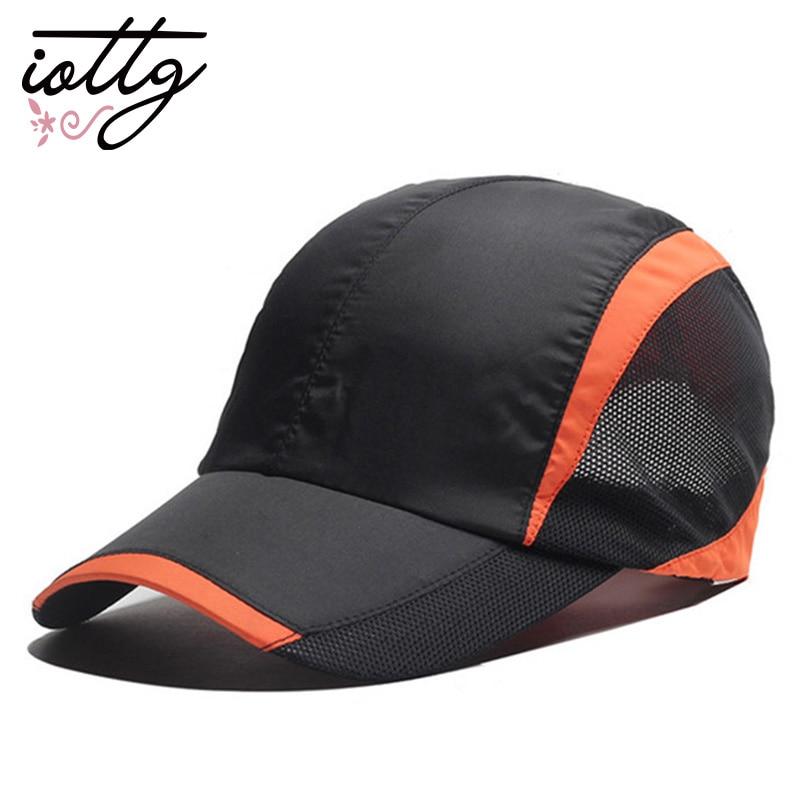 IOTTG High Quality Quick-Drying Sports Cap Unisex Summer Baseball Cap Sports Mesh Hat for Golf Running Fishing