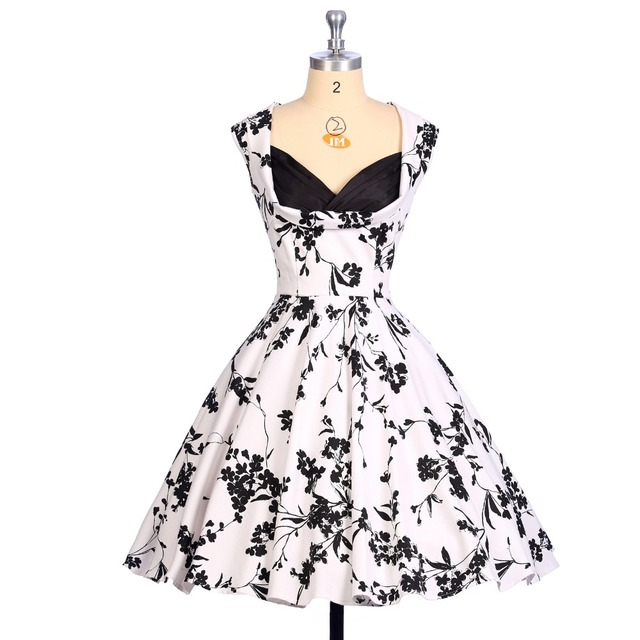 Wedding Guest Dress Spring Style Little Flowers Print Retro Vintage ...