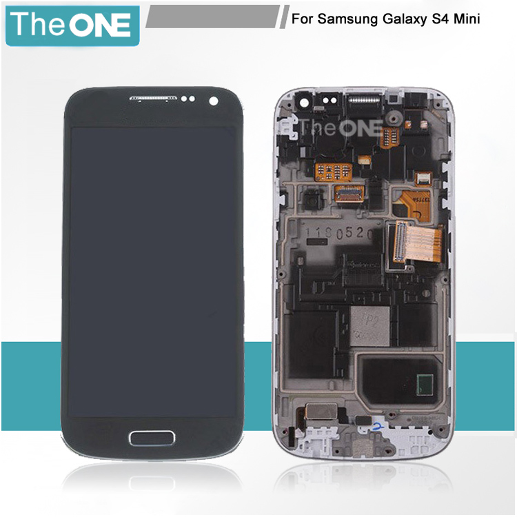 ФОТО Free shipping 100% tested For Samsung Galaxy S4 mini i9190 i9195 LCD Digitizer Assembly frame