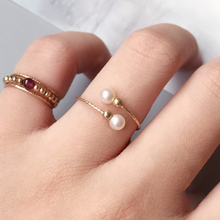 Handmade Natural Pearls Ring Handmade Jewerly Gold Filled Rings Gift Boho Anillos Mujer Bague Femme Rings For Women