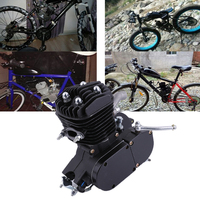 NewestPromotion Exquisite 2 Stroke 80cc Cycle Motor Engine Kit Gas Perfect For Motorized Bicycles Cycle Bikes Black