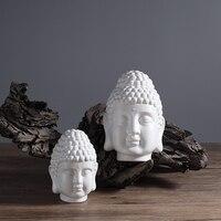 white ceramic buddha head statue decor ornaments