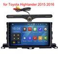 2 Din Pure Android 5.1 Unidad Principal estéreo para Toyota Highlander 2015 2016 de radio GPS navi Radio headunit wifi envío de Visión Trasera cámara