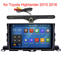 2 Din Pure Android 5.1 stereo Head Unit for Toyota Highlander 2015 2016 radio navi GPS Radio headunit wifi free Rear View Camera