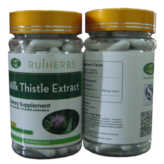 5 garrafas de Milk Thistle Extrato Silymarin 80% Cápsula 500 mg x 450 pcs Poderoso Antioxidante frete grátis