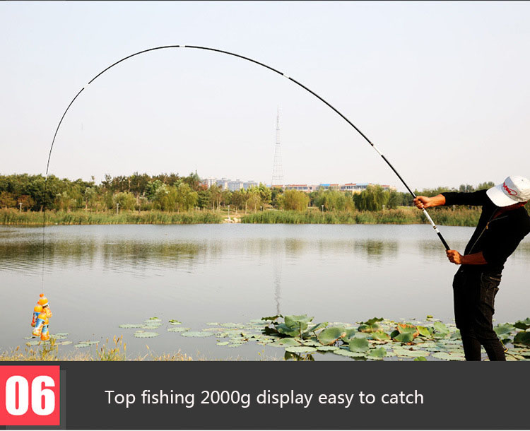 JSFUN Pesca Da Carpa de Carbono Vara