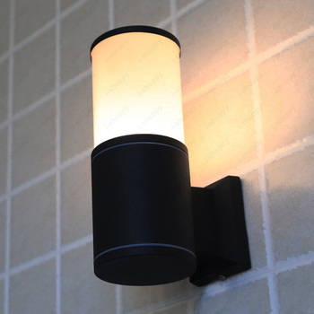 3W/5W/7W LED Outdoor Wall Sconces Lamp Patio Basement Waterproof Light Fixture Black Finish