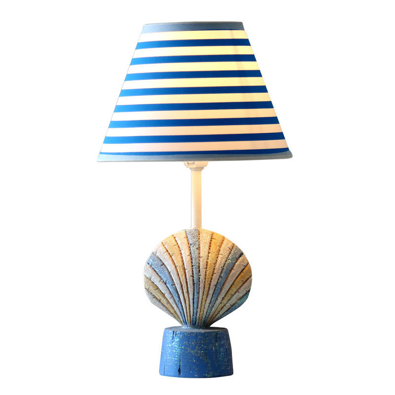 Mediterranean Sea Healthy Lovely Cartoon Conch Shells E27 Dimmiable Table Lamp For Bedroom Bedside Light Birthday Gift 1818 фен elchim 3900 healthy ionic red 03073 07