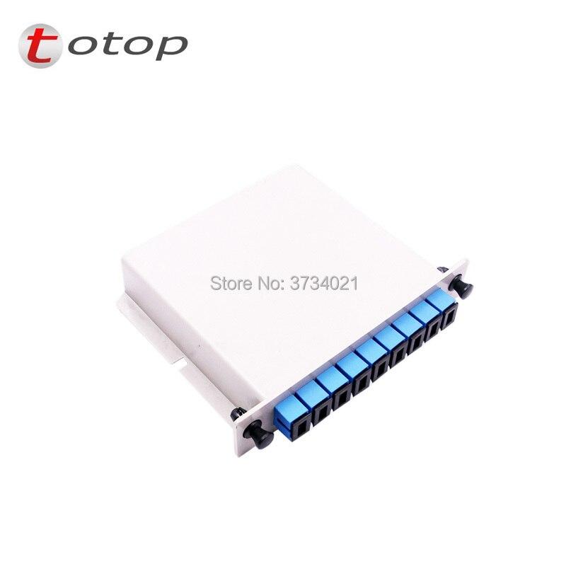 SC UPC PLC 1X8 splitter Fiber Optical Box FTTH PLC Splitter box with 1X8 Planar waveguide type Optical splitter Free shipping