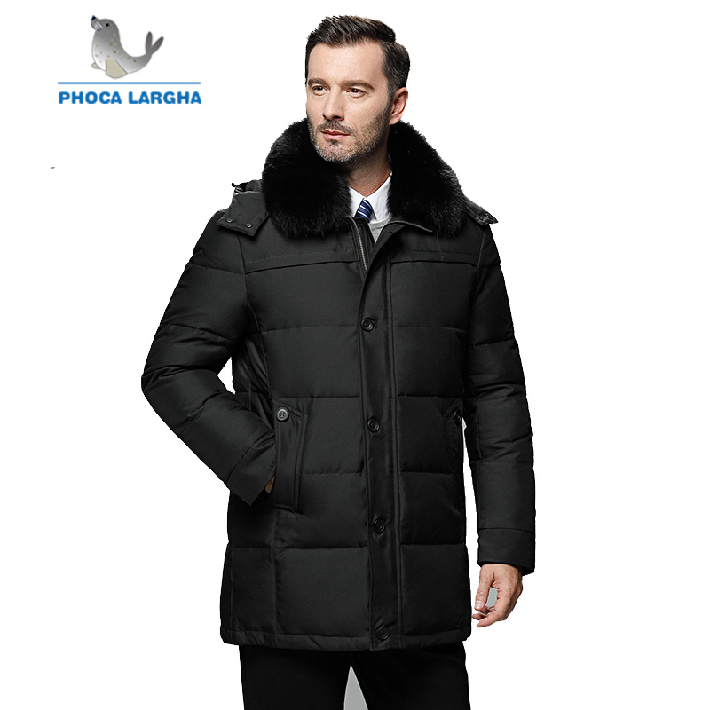 Winter   Down   Jackets Men 2018 New Warm Fur Collar   Coats   Casual Parka Men's Hooded Long Thick   Down     coats   Male Plus Size 4XL 5XL