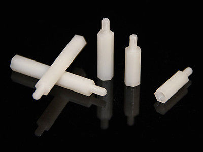 100pcs <font><b>M2X5mm</b></font>+5mm Nylon Hexagonal Pillar Female and Male Standoff Spacer image