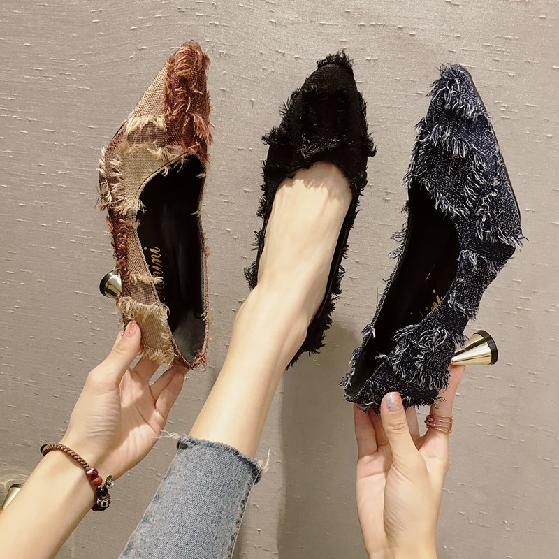 3249da052 Detail Feedback Questions about Mixed colors plaid pointed toe pumps women  strange style tassel shallow high heels ladies all match single shoes pumps  woman ...