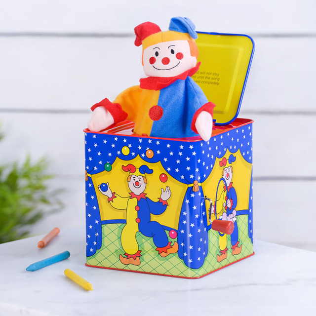 Hand bounce music box Jack in the Box plush toy Baby puzzle interactive toys ...