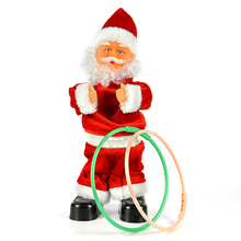 Christmas Electric Dancing Music hila hoop Santa Claus dolls Kids new year Xmas Party Gift toy