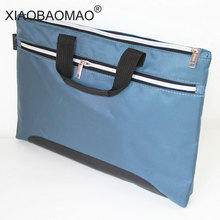 A4 thick portable Zipper Bag Canvas paper bag for men's office file bag  Double-layer large-capacity business document bag minimalist a4 carrying bag zipper bag felt file bag double layer female men office file bag folder