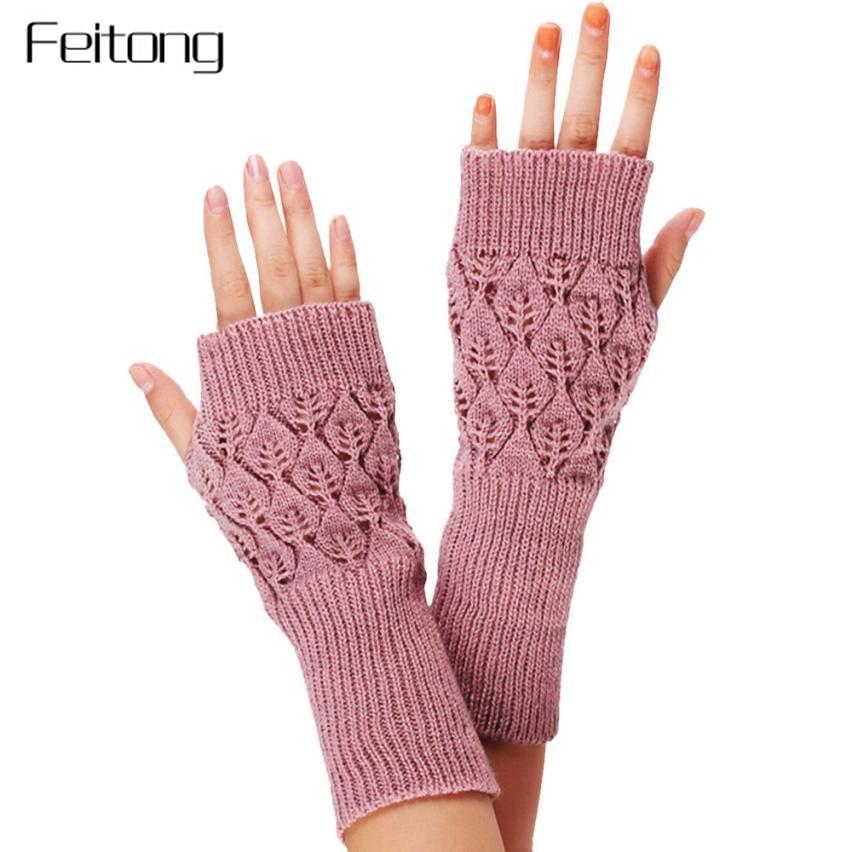 Apparel Accessories Sporting Rabbit Pattern Gloves Women Winter Arm Sleeve Knitted Glove Lady Women Warm Fingerless Gloves Mitts Girls Mittens #z