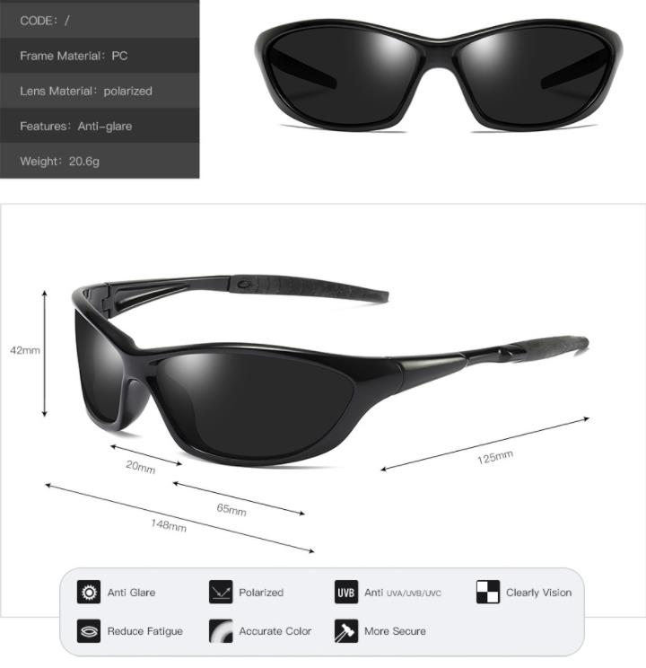 NEW Men 39 s Polarized Sport Sunglasses High Quality Male Goggle Polaroid Eyewear Outdoor Windproof UV400 Sun Glasses With Package in Men 39 s Sunglasses from Apparel Accessories