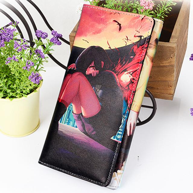Tokyo Ghoul Wallet PU Leather Women Men's Anime Ken Kaneki Long Purse with Card Holder Dollar