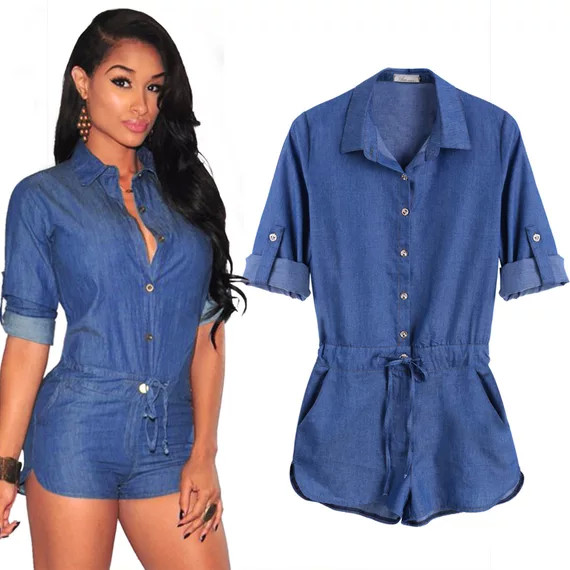 Compare Prices on Long Sleeve Denim Romper- Online Shopping/Buy ...