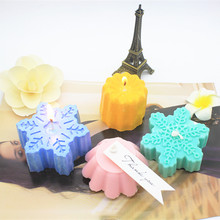 Connected Silicone Molds for Candle making Jelly Cake Soap DIY 3d Flowers snowflakes Mold