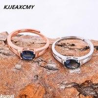 KJJEAXCMY Fine Jewelry Wholesale Color Jewelry 925 Silver Inlay Tanzania Color Topaz Ring