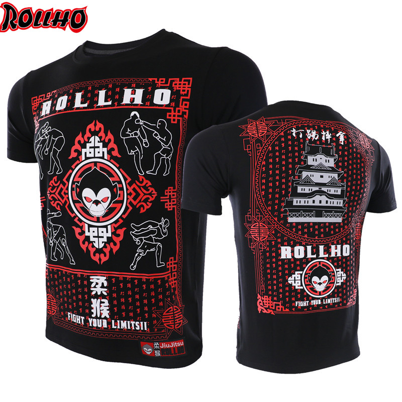 Boxing Muay Thai Printing Sportswear Men's Compression Shirt Men's MMA Fast-drying Sports And Bodybuilding T Shirts