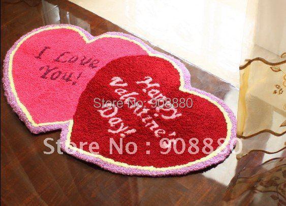 floor mat/Carpet Ottomans tasteless /European trade /cute baby anti-skid pad/bedroom carpet/Free Shipping/Doormat/heart shape