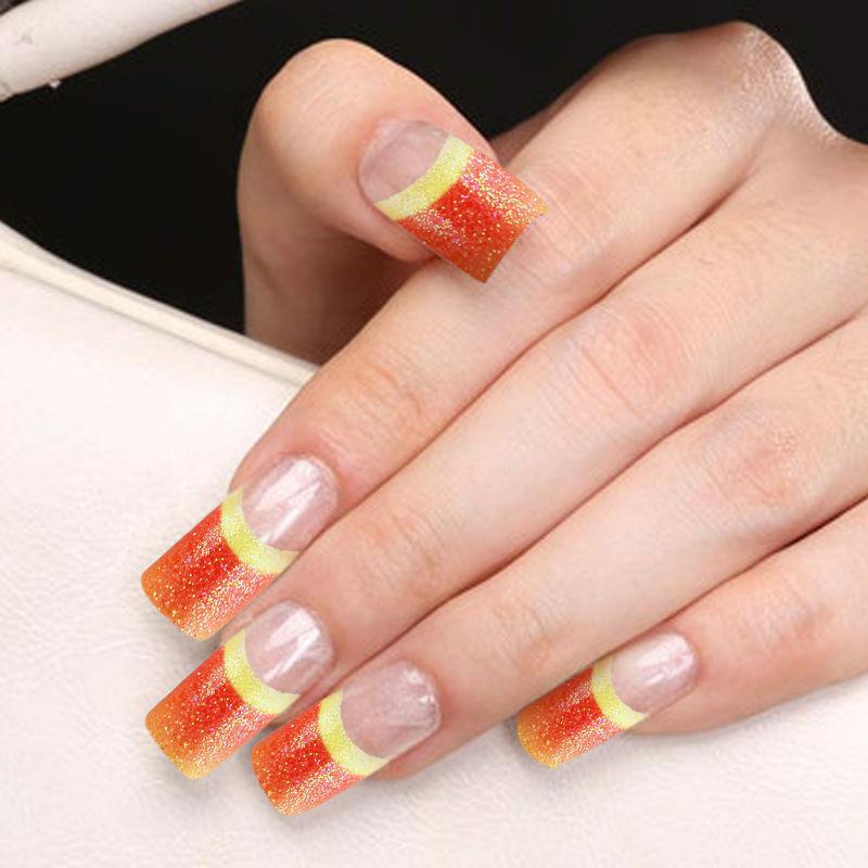 False Nails New Arrival Hot Sake Yaoshun French Manicure Fake Nail ...