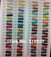 Free Shipping 10mm 80 Colors For Choosing Glass Imitation Pearls Loose Beads For Necklace Bracelet DIY