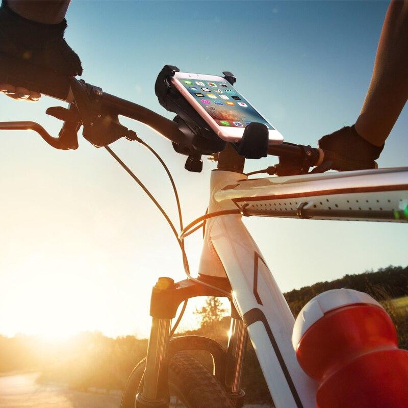 Universal smartphone autocycle bike montaje de la bicicleta holder rotación de 3