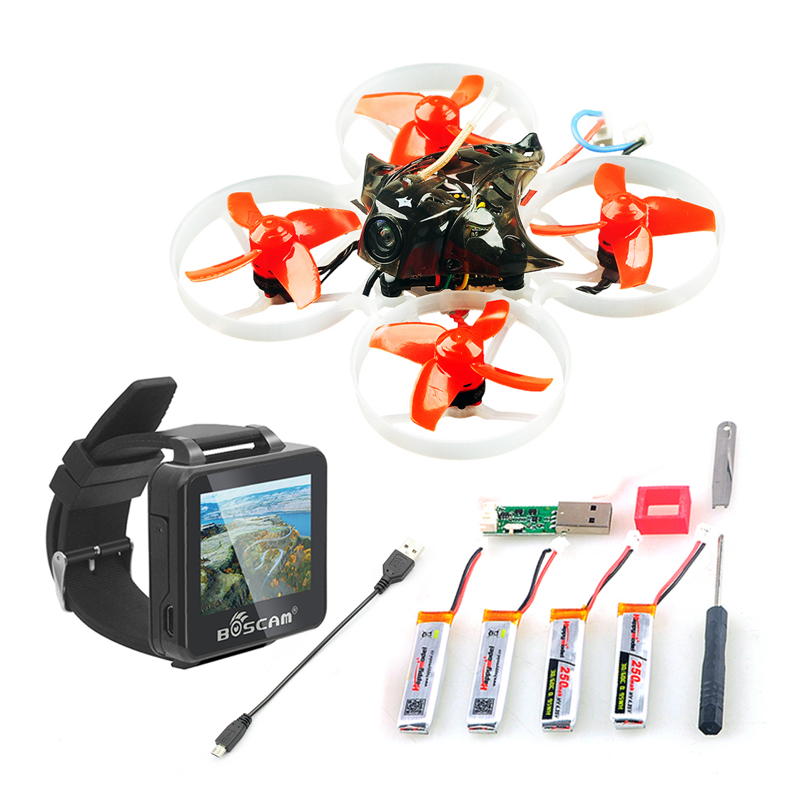 Mini Mobula 7 75mm BOSCAM BOS200RC FPV Uhr Crazybee F3 Pro OSD 2 s BWhoop Racing Drone Quadcopter BB2 ESC BNF Frsky Flysky