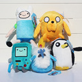 Приключения время Плюшевые Игрушки 5 стиль Джейк Финн Beemo BMO Пингвин гюнтер Ice король Чучела Животных Плюшевые Куклы Мягкие Игрушки Бесплатная Доставка доставка